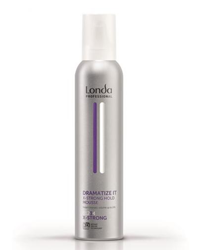 Лонда Профессиональ Dramatize Пена для укладки волос экстрасильной фиксации 250 мл (Londa Professional, Укладка и стайлинг, Объем)