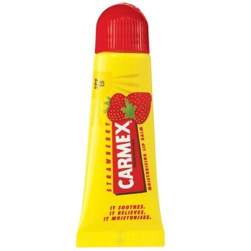 Купить Carmex Бальзам для губ с ароматом клубники с защитой SPF15, туба 10 г (Carmex, )