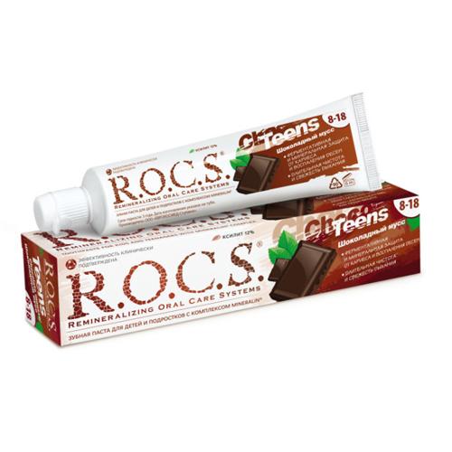 Купить R.O.C.S Зубная паста Шоколадный мусс 74 гр (R.O.C.S, Teens 8-18 years)