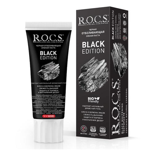 Купить R.O.C.S Зубная паста Black Edition Черная отбеливающая, 74 гр (R.O.C.S, Для Взрослых)