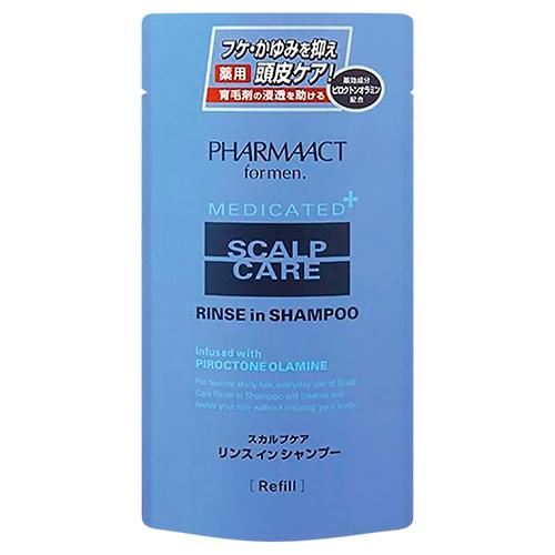 Купить Kumano Cosmetics Шампунь 2 в 1 против перхоти для мужчин Pharmaact Scalp Care Rinse in Shampoo, 400 мл (Kumano Cosmetics, Шампуни для волос)