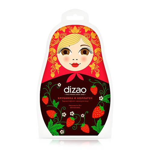 Купить Dizao Черная лифтинг-маска для лица Клубника и коллаген , 1 шт. (Dizao, )