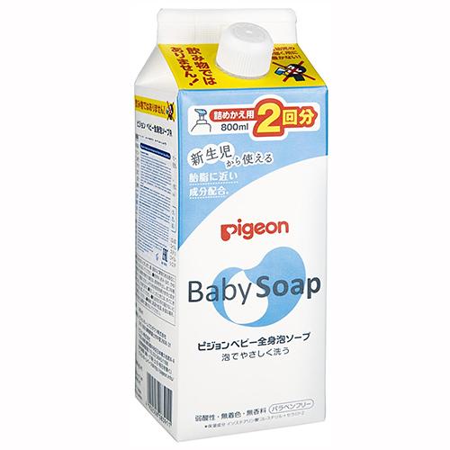Купить Pigeon Мыло-пенка для младенцев с рождения, сменный блок, 800 мл (Pigeon, )