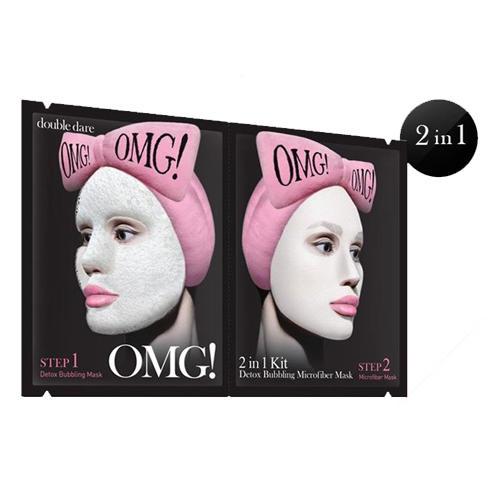 Купить Double Dare OMG Detox Bubbling Microfiber Mask Маска двухкомпонентная для глубокого очищения и питания 5 шт. (Double Dare OMG, Double Dare)