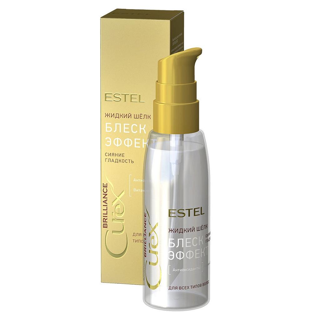 Купить Estel Professional Жидкий шёлк Блеск-эффект для всех типов волос, 100 мл (Estel Professional, Curex)