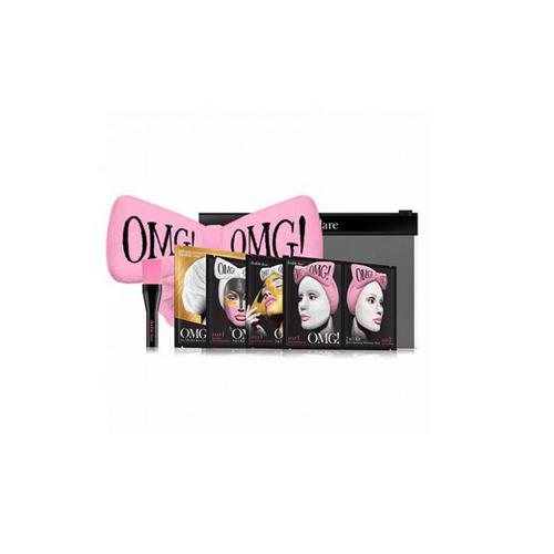 Double Dare OMG Набор SPA из 4 масок, кисти и нежно-розового банта 1 шт (Double Dare OMG, OMG!) набор double dare omg 2 шт розовый черный
