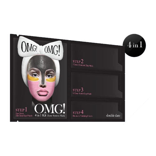 Купить Double Dare OMG Zone System Mask Маска четырехкомпонентная для ухода за кожей лица 4 в 1, 1 шт. (Double Dare OMG, Double Dare)