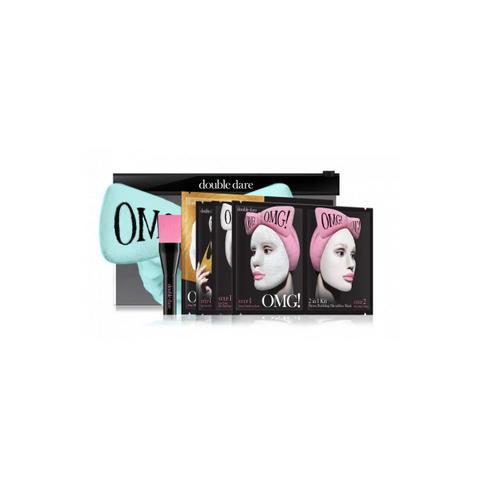 Double Dare OMG Набор SPA из 4 масок, кисти и мятного банта 1 шт (Double Dare OMG, OMG!) набор double dare omg 2 шт розовый черный