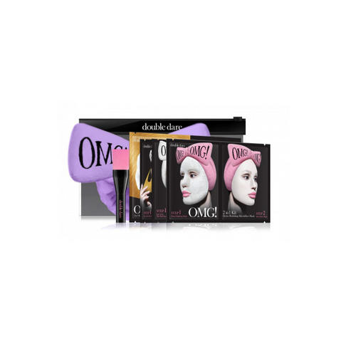 Double Dare OMG Набор SPA из 4 масок, кисти и лавандового банта 1 шт (Double Dare OMG, OMG!) набор double dare omg 2 шт розовый черный
