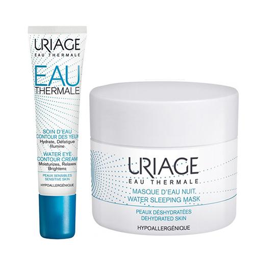 Купить Uriage Набор для увлажнения кожи (Увлажняющий крем для контура глаз, 15 мл + Ночная увлажняющая маска, 50 мл) (Uriage, Eau thermale)