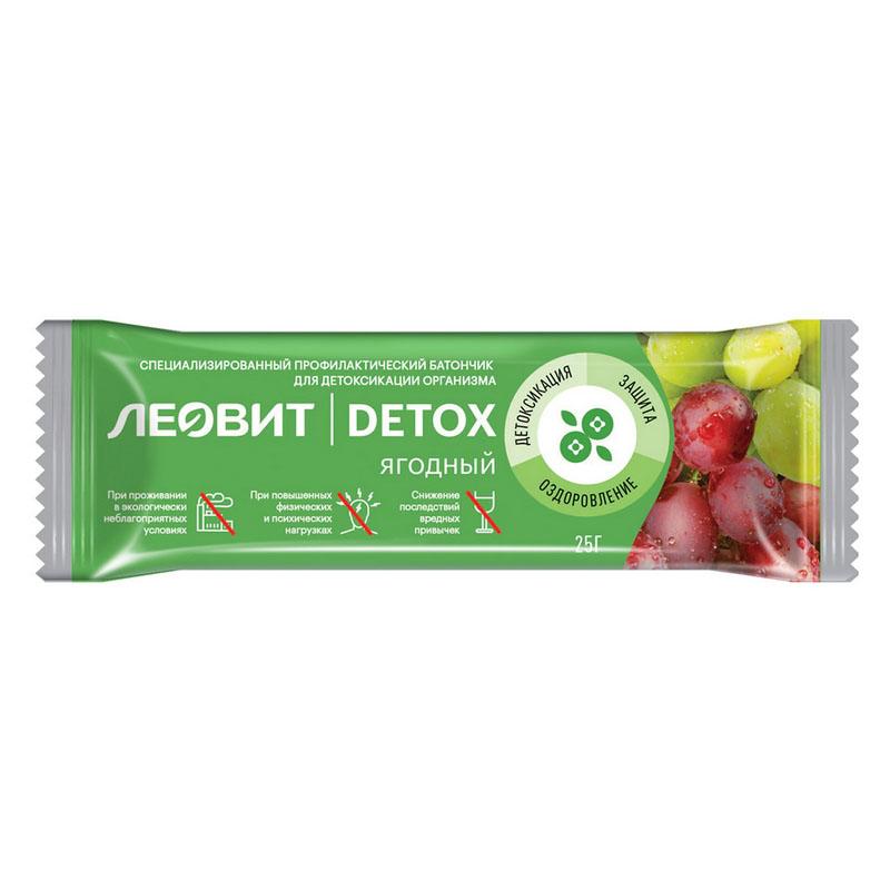 Купить Леовит Батончик детоксикационный ягодный, 25 г (Леовит, )
