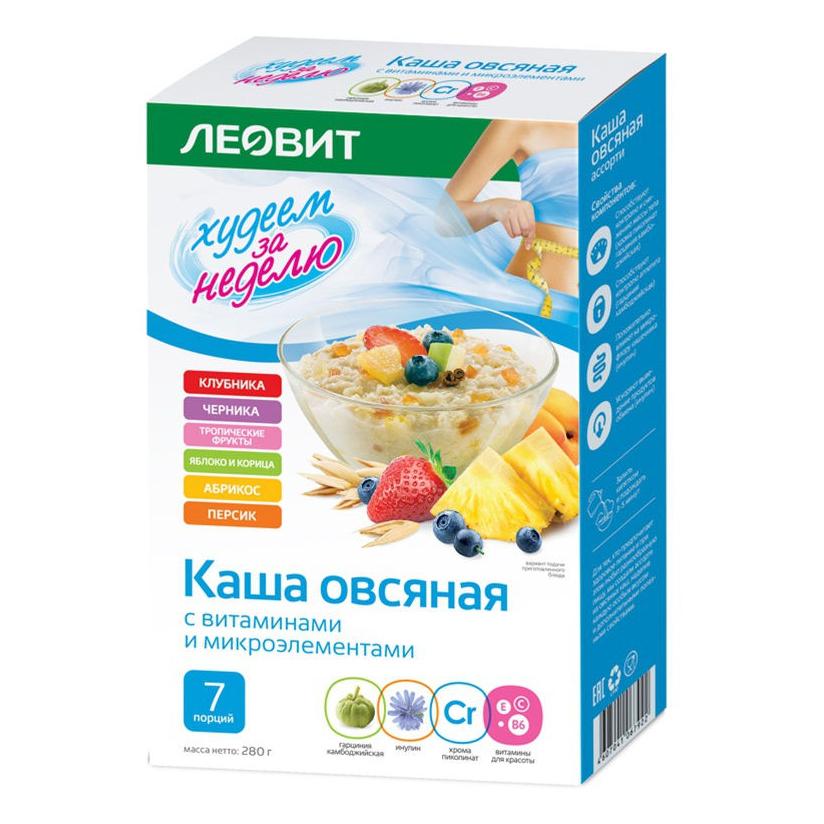 Леовит Каша овсяная, ассорти, 7 шт*40 г (Леовит, )
