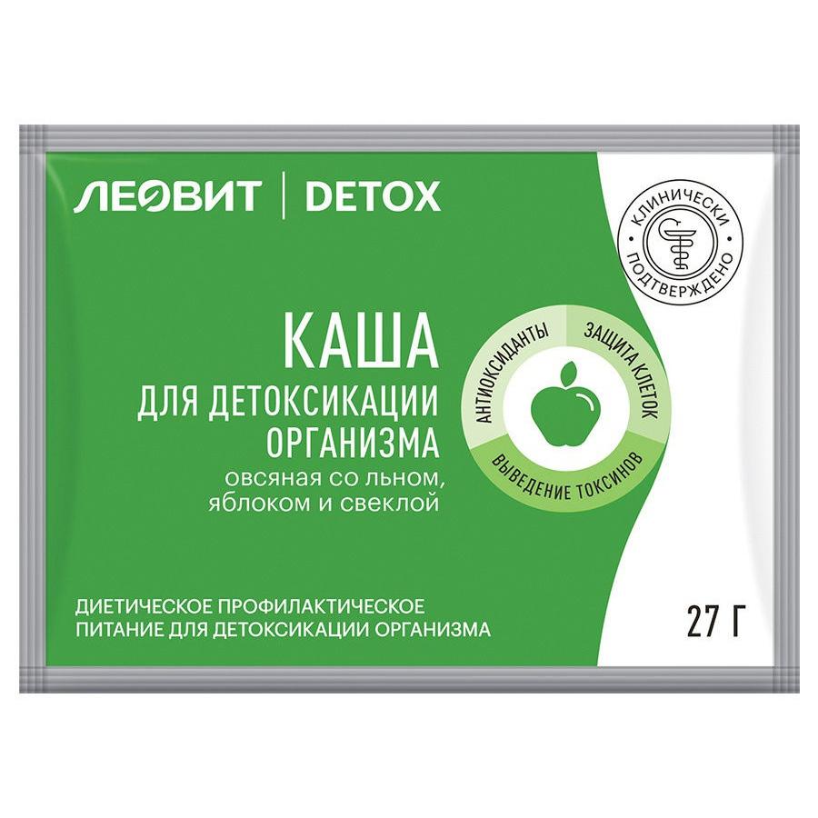 Леовит Каша для детоксикации организма овсяная со льном, яблоком и свеклой, 27 г (Леовит, )
