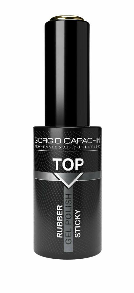 Купить GIORGIO CAPACHINI Универсальный каучуковый топ с липким слоем Rubber, 12 мл (GIORGIO CAPACHINI, Гель-лаки)