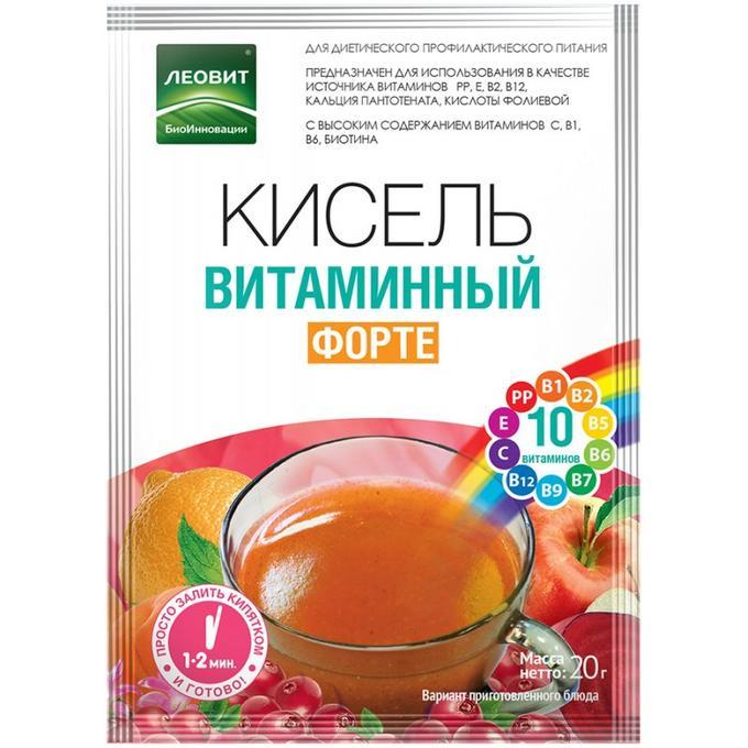 ЛЕОВИТ Кисель витаминный Форте, 20 г (ЛЕОВИТ, ) недорого