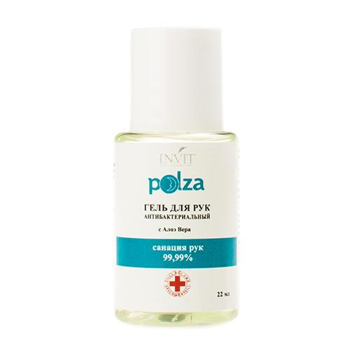 Polza Гель для рук антибактериальный с Алоэ Вера и изопропанолом, 22 мл (Polza, Антисептические средства)