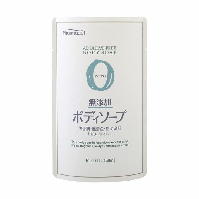 Купить Kumano Cosmetics Жидкое мыло для тела без добавок для чувствительной кожи Pharmaact Additive Free Body Soap Zero сменный блок, 450 мл (Kumano Cosmetics, Жидкое мыло для тела)