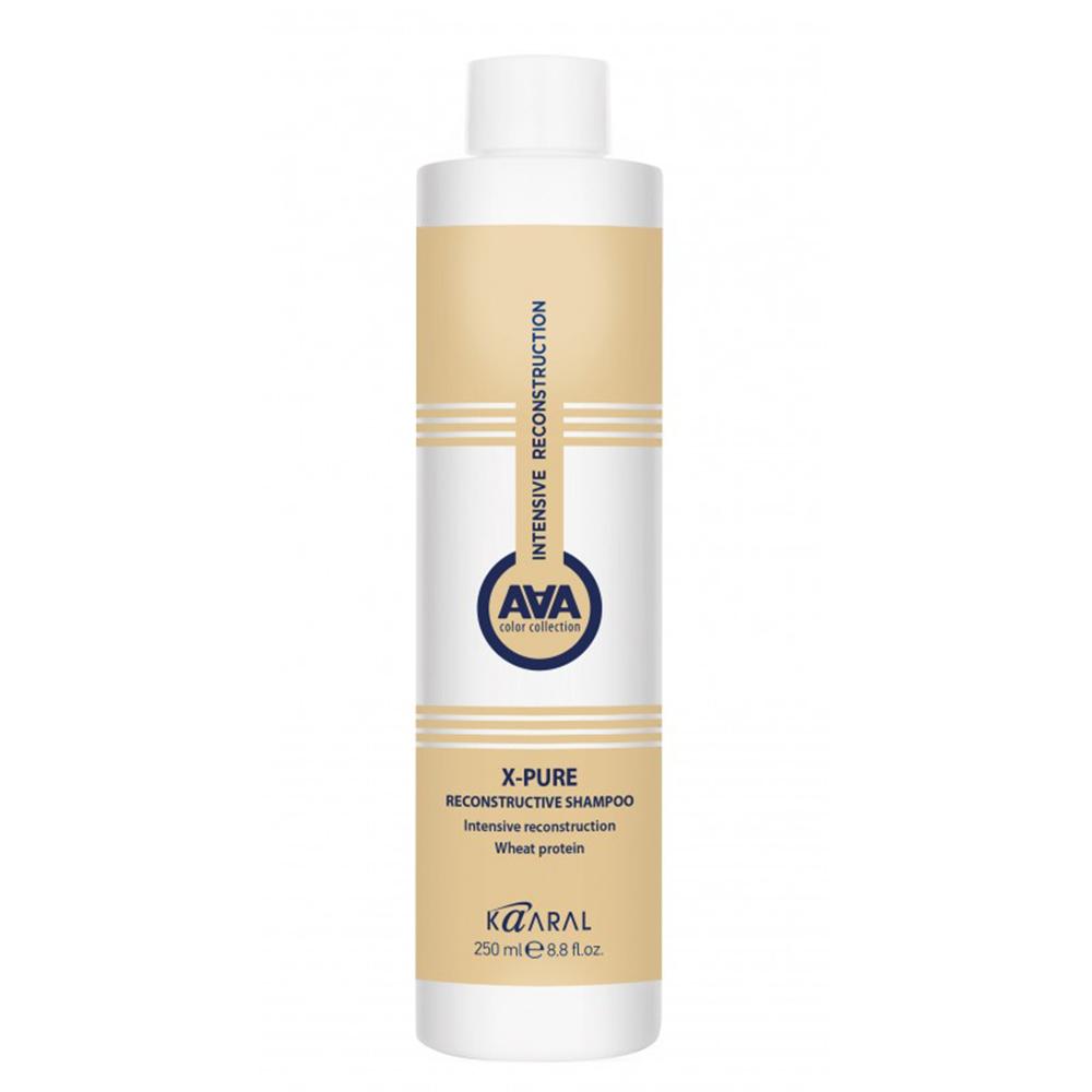 Купить Kaaral Восстанавливающий шампунь для поврежденных волос с пшеничными протеинами X-Pure Reconstructive Shampoo, 250 мл (Kaaral, X-Form)