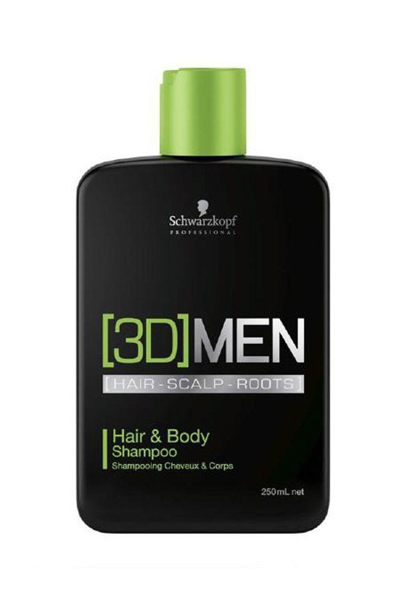 Купить Schwarzkopf Professional Шампунь для волос и тела Hair&Body Shampoo, 250 мл (Schwarzkopf Professional, [3D]MEN)