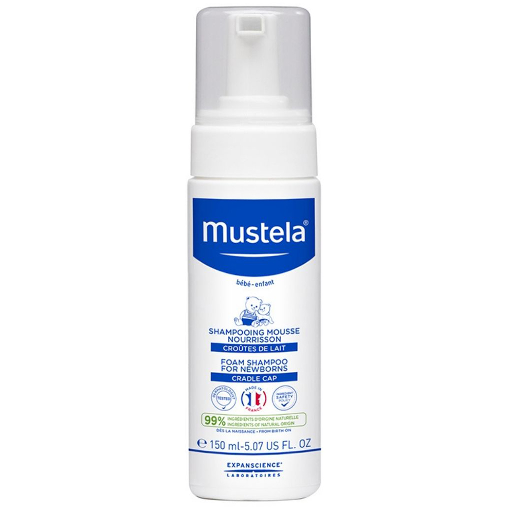 Купить Mustela Шампунь-пенка от молочных корочек для новорожденных, 150 мл (Mustela, Специальный уход)