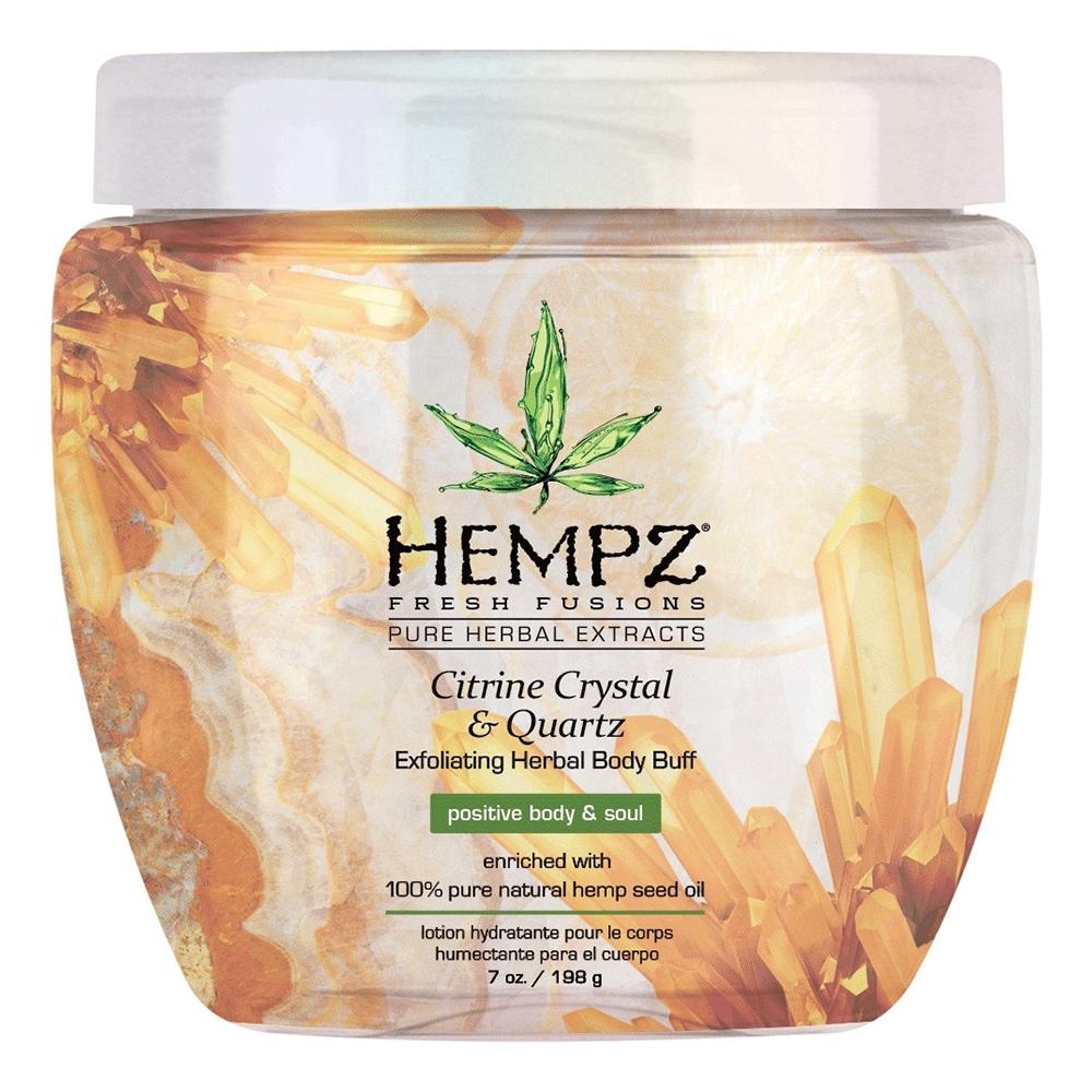 Купить Hempz Скраб для тела с мерцающим эффектом Желтый Кварц Citrine Crystal & Quartz Herbal Body Buff, 198 г (Hempz, Желтый кварц)