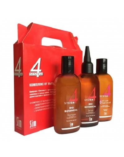 Купить Sim Sensitive Лечебный комплекс от выпадения волос шампунь 100 мл, маска 100 мл, сыворотка 100 мл (Sim Sensitive, System 4)