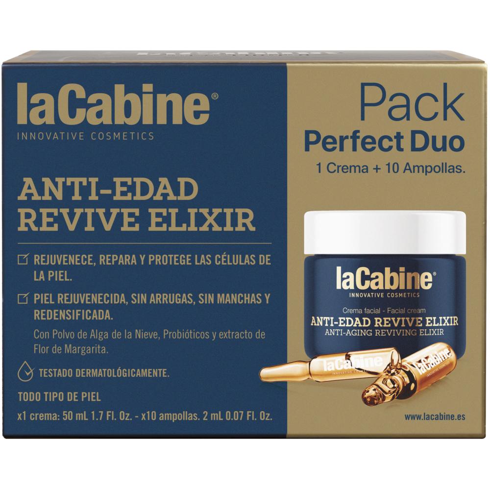 Купить La Cabine Набор Эликсир омоложения: концентрированная сыворотка в ампулах Ampoules, 10*2 мл + Крем Perfect Duo Revive Elixir Cream, 50 мл (La Cabine, Наборы средств для лица)