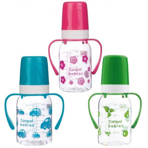 Купить Canpol Бутылочка тритановая (BPA 0%) с ручками с силиконовой соской, от 3 месяцев, 1 шт. (Canpol, )