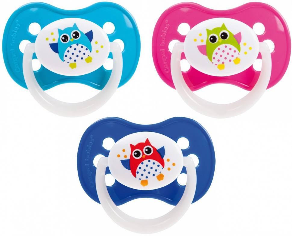 Купить Canpol Пустышка симметричная силиконовая, от 0 до 6 месяцев, 1 шт. (Canpol, Owl)