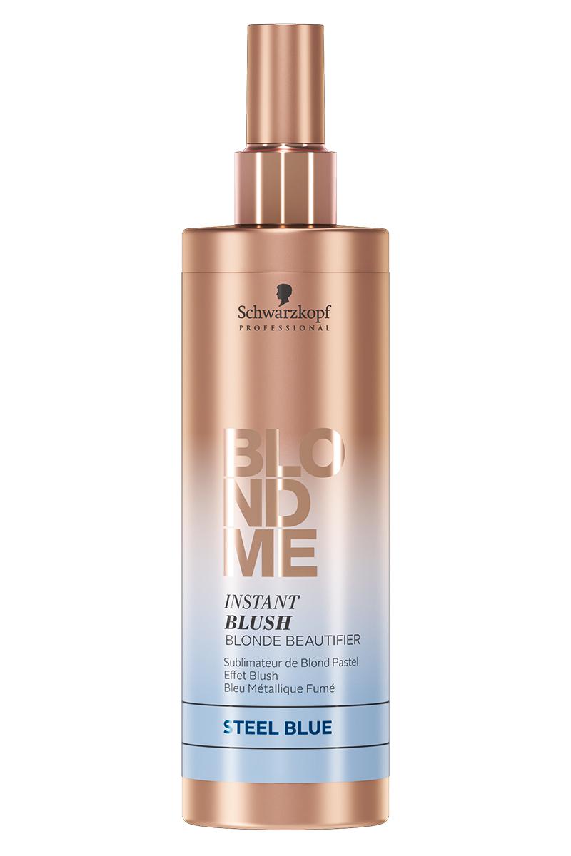 """заказать Schwarzkopf Professional BlondMe Instnt Blush Оттеночный спрей для волос """"Сталь"""" 250 мл (Blondme)"""