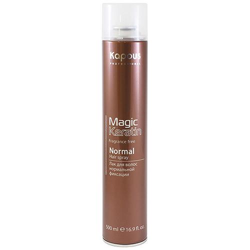 Kapous Professional Лак аэрозольный для волос нормальной фиксации с кератином, 500 мл (Kapous Professional, Magic Keratin) недорого