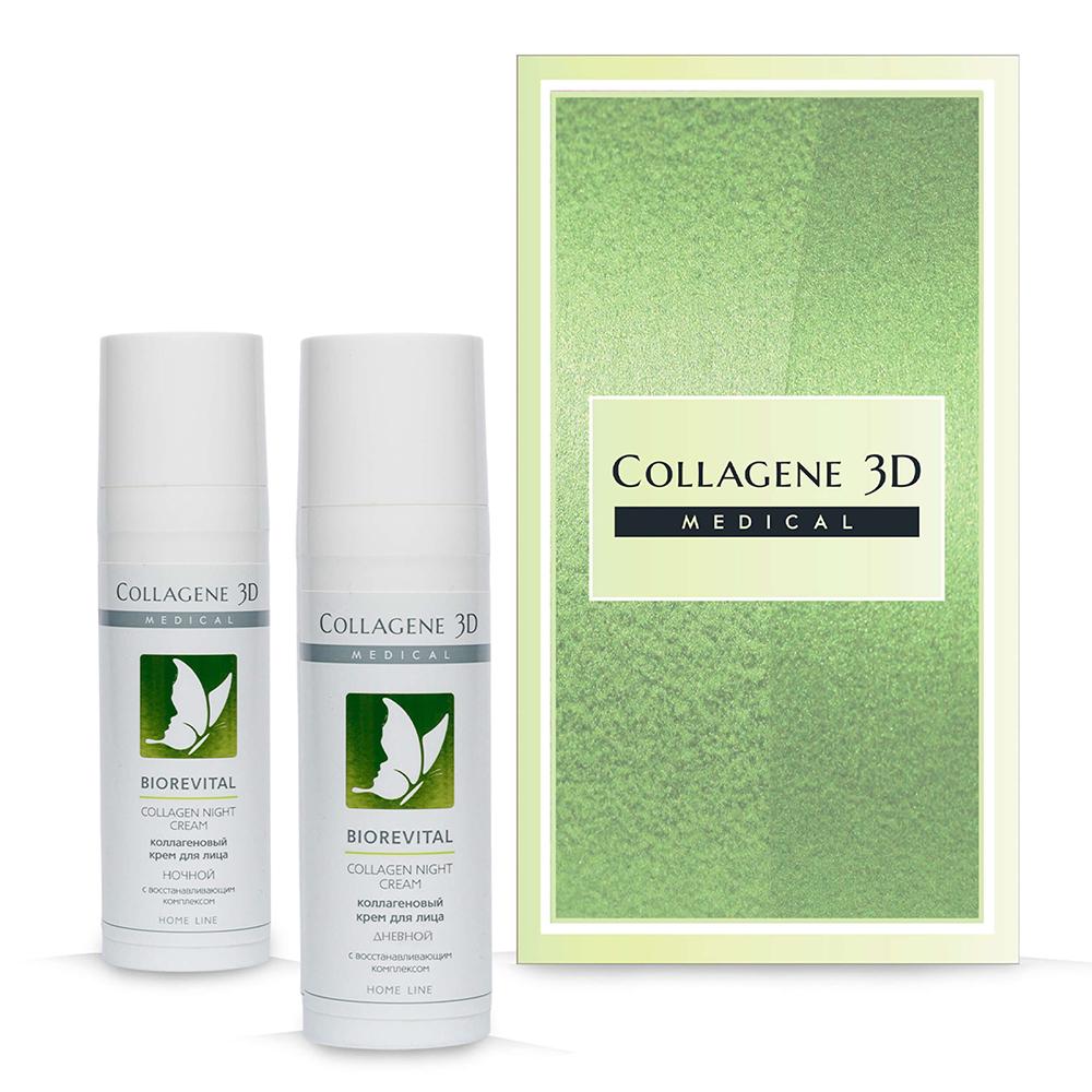 Купить Collagene 3D Подарочный набор Ритуал красоты (Крем для лица дневной BioRevital, 30 мл + Крем ночной для лица Biorevital, 30 мл) (Collagene 3D, Подарочные наборы)