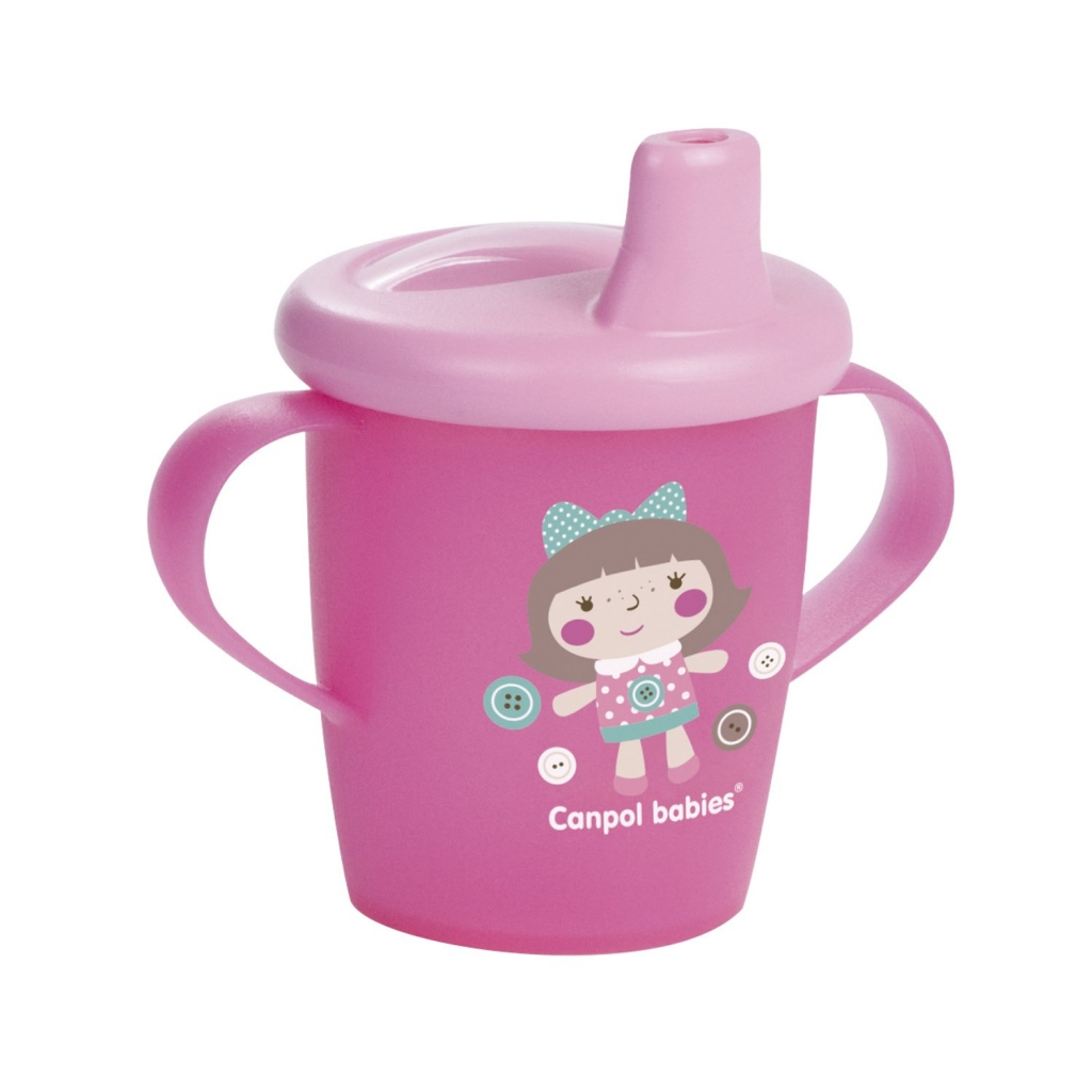 поильники Canpol Чашка-непроливайка, Toys 9+, розовый, 1 шт. (Canpol, Поильники)