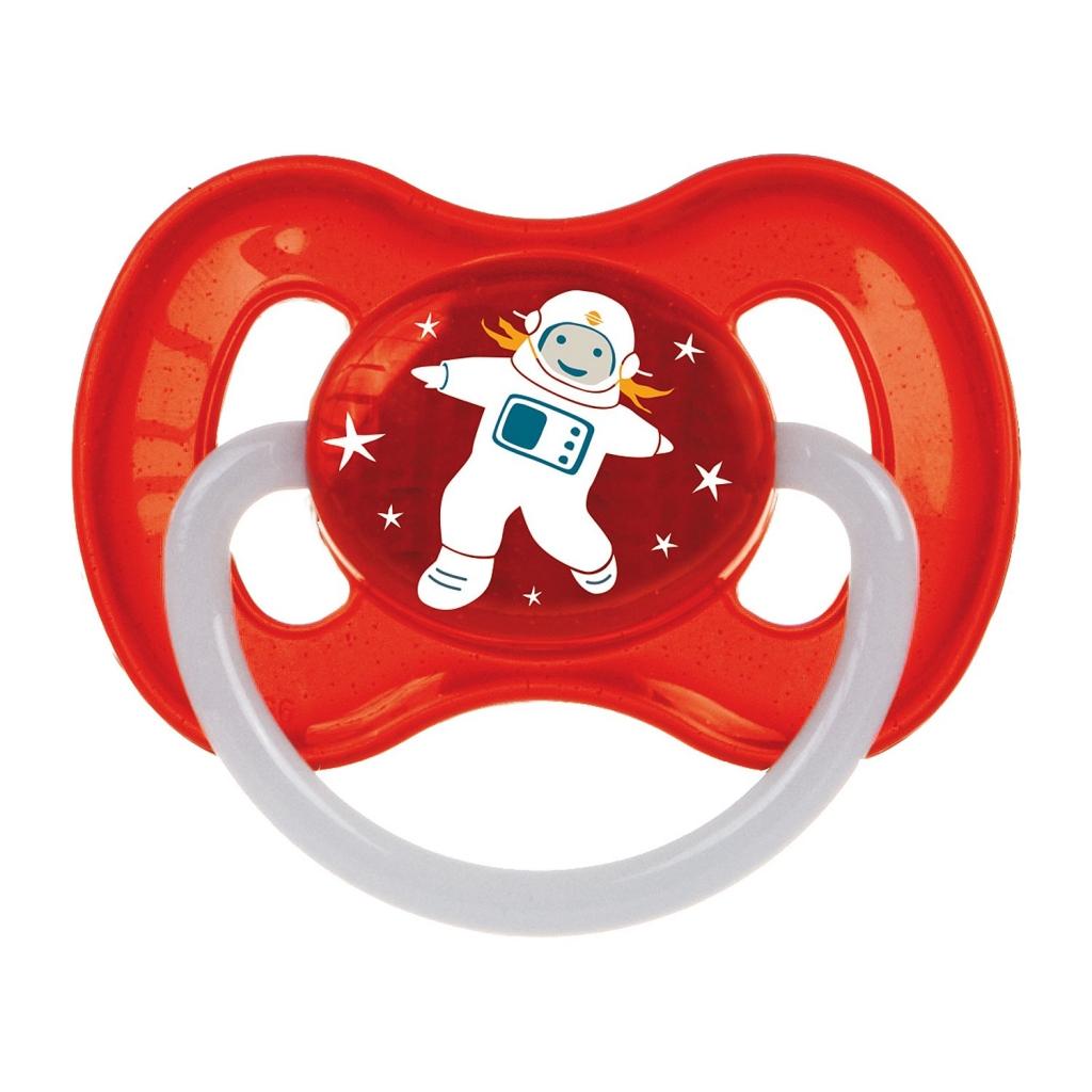 Купить Canpol Пустышка круглая латексная, от 0 до 6 месяцев, красный, 1 шт. (Canpol, Space)