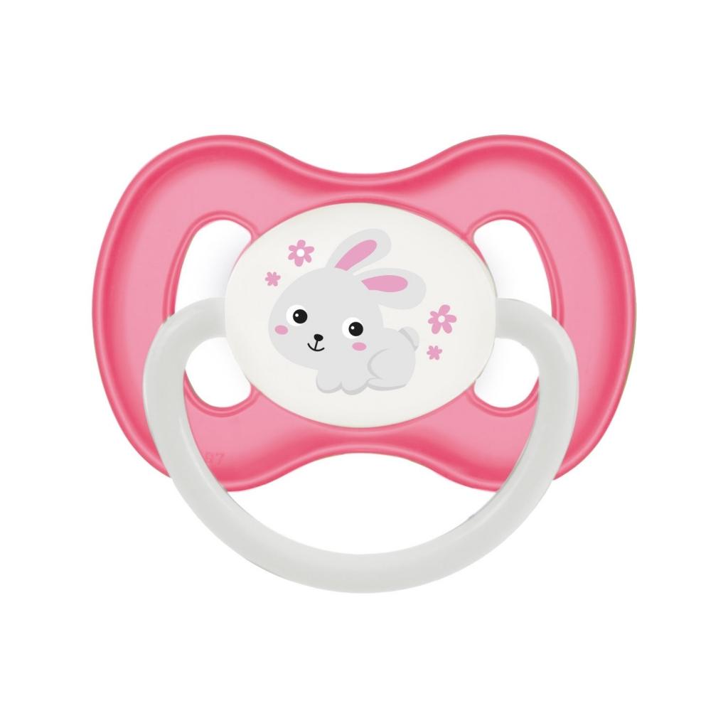 Купить Canpol Пустышка симметричная силиконовая, от 0 до 6 месяцев, розовый, 1 шт. (Canpol, Bunny & Company)