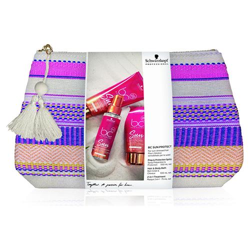 Schwarzkopf Professional Косметичка с солнцезащитными продуктами (Солнцезащитный спрей, 100 мл + Шампунь для волос и тела, 100 мл + Маска для волос после солнца 2-в-1, 75 мл) (Schwarzkopf Professional, BC Bonacure)