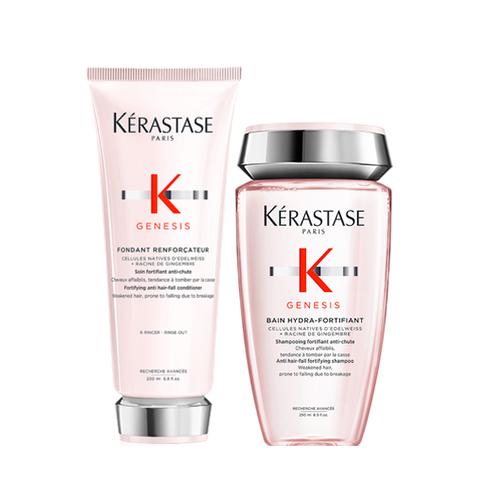 Купить Kerastase Набор для ослабленных волос Genesis (Шампунь-ванна, 250 мл + Молочко, 200 мл) (Kerastase, Genesis)