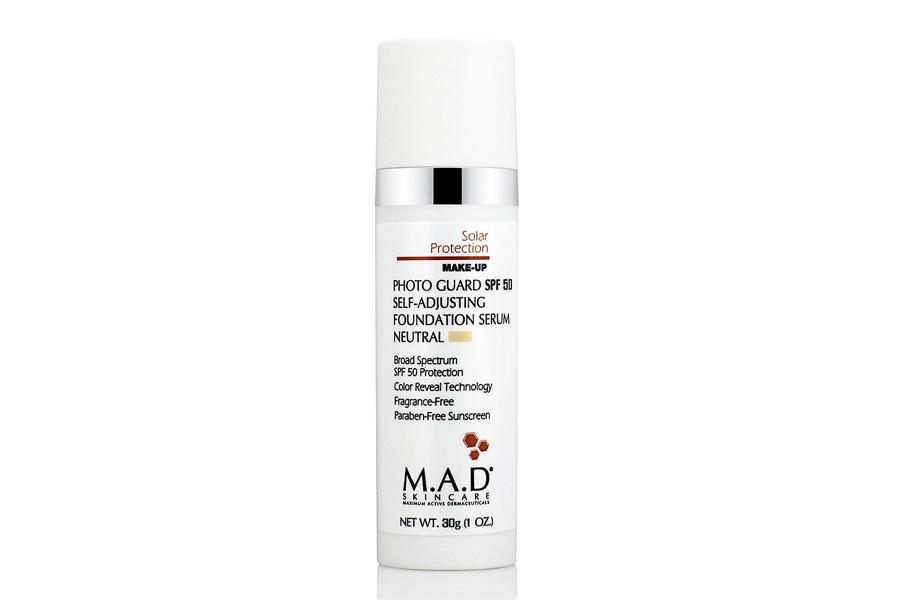 Купить M.A.D. Подстраивающаяся сыворотка-основа под макияж с защитой spf 50 medium, 30 г (M.A.D., Sun Protection)