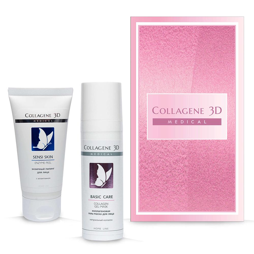 Купить Collagene 3D Подарочный набор Восстановление и комфорт (Гель-пилинг для лица энзимный Sensi Skin, 50 мл + Гель-маска Basic Care, 30 мл) (Collagene 3D, Подарочные наборы)
