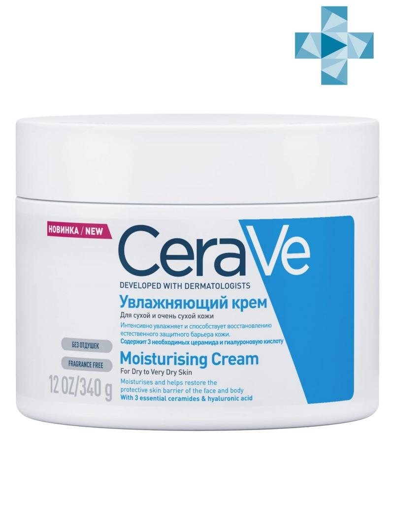 Купить CeraVe Увлажняющий крем для сухой и очень сухой кожи лица и тела детей и взрослых, 340 мл (CeraVe, Увлажнение кожи)