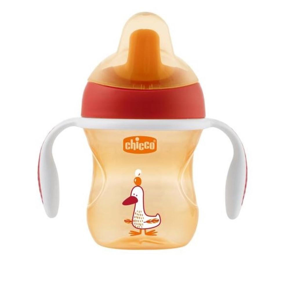 Chicco Чашка-поильник Training Cup, от 6 месяцев, красный, 1 шт. (Chicco, Поильники)