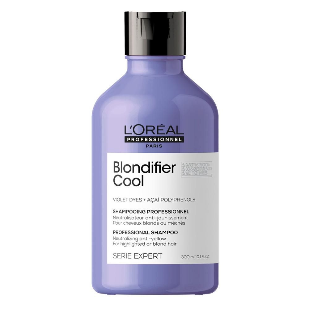 Купить L'Oreal Professionnel Шампунь Blondifier Cool для нейтрализации желтизны холодных оттенков блонд, 300 мл (L'Oreal Professionnel, Уход за волосами)