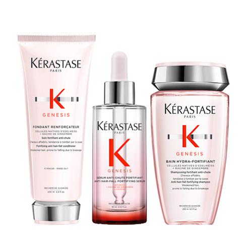 Купить Kerastase Набор для ослабленных волос Genesis (Шампунь-ванна, 250 мл + Молочко, 200 мл + Сыворотка, 90 мл) (Kerastase, Genesis)