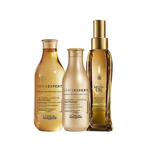 L'Oreal Professionnel Набор для питания и восстановления волос Nutrifier (Шампунь, 300 мл + Смываемый уход, 200 мл + Масло, 100 мл) (L'Oreal Professionnel, Уход за волосами)
