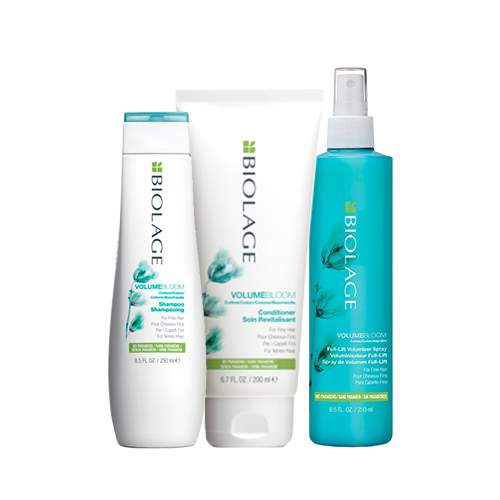 цена на Matrix Набор для придания объема волосам Volumebloom (Шампунь, 250 мл + Кондиционер, 200 мл + Спрей, 250 мл) (Matrix, Biolage)