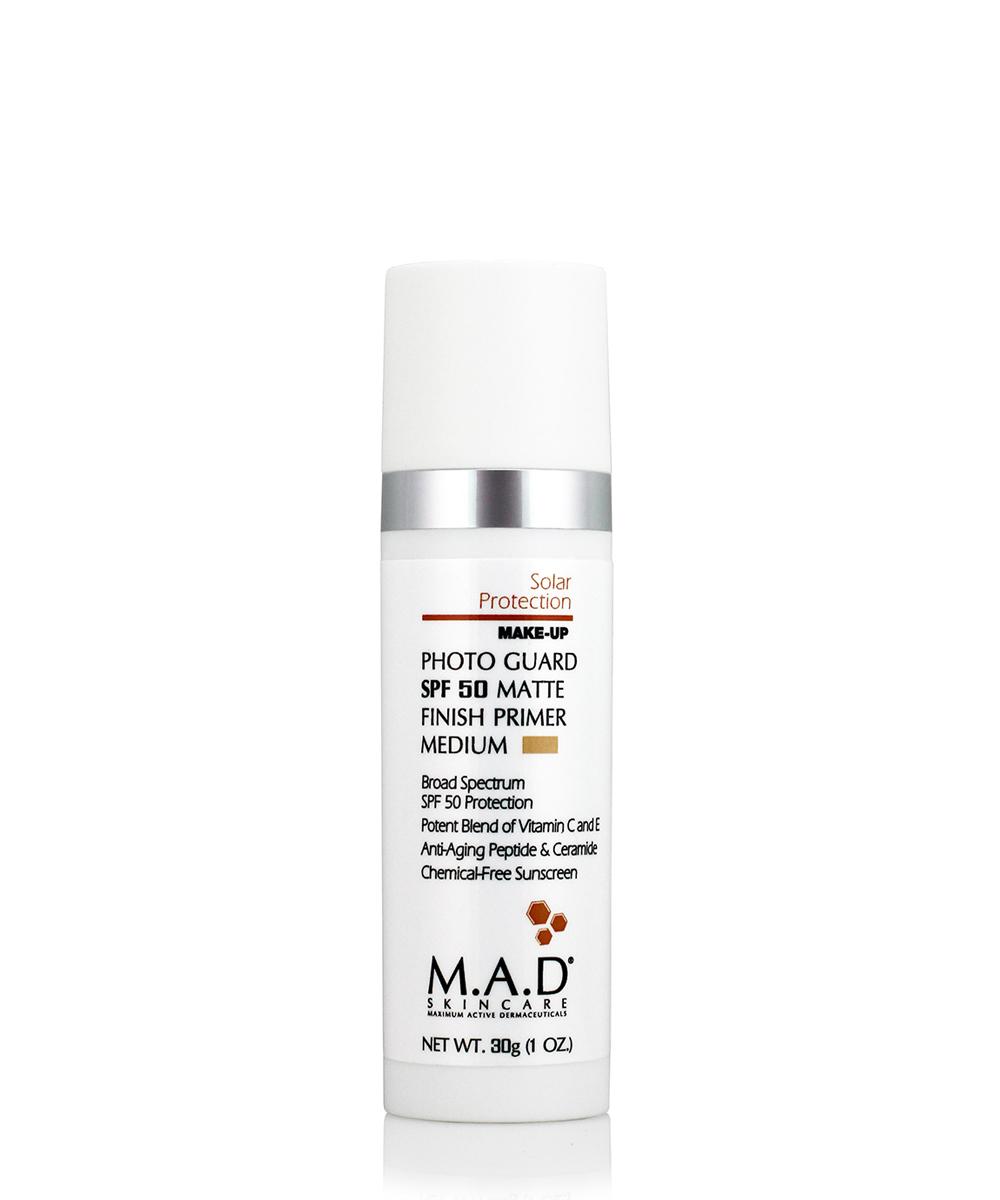 Купить M.A.D. Матирующий крем-праймер с защитой spf 50 medium, 30 мл (M.A.D., Sun Protection)