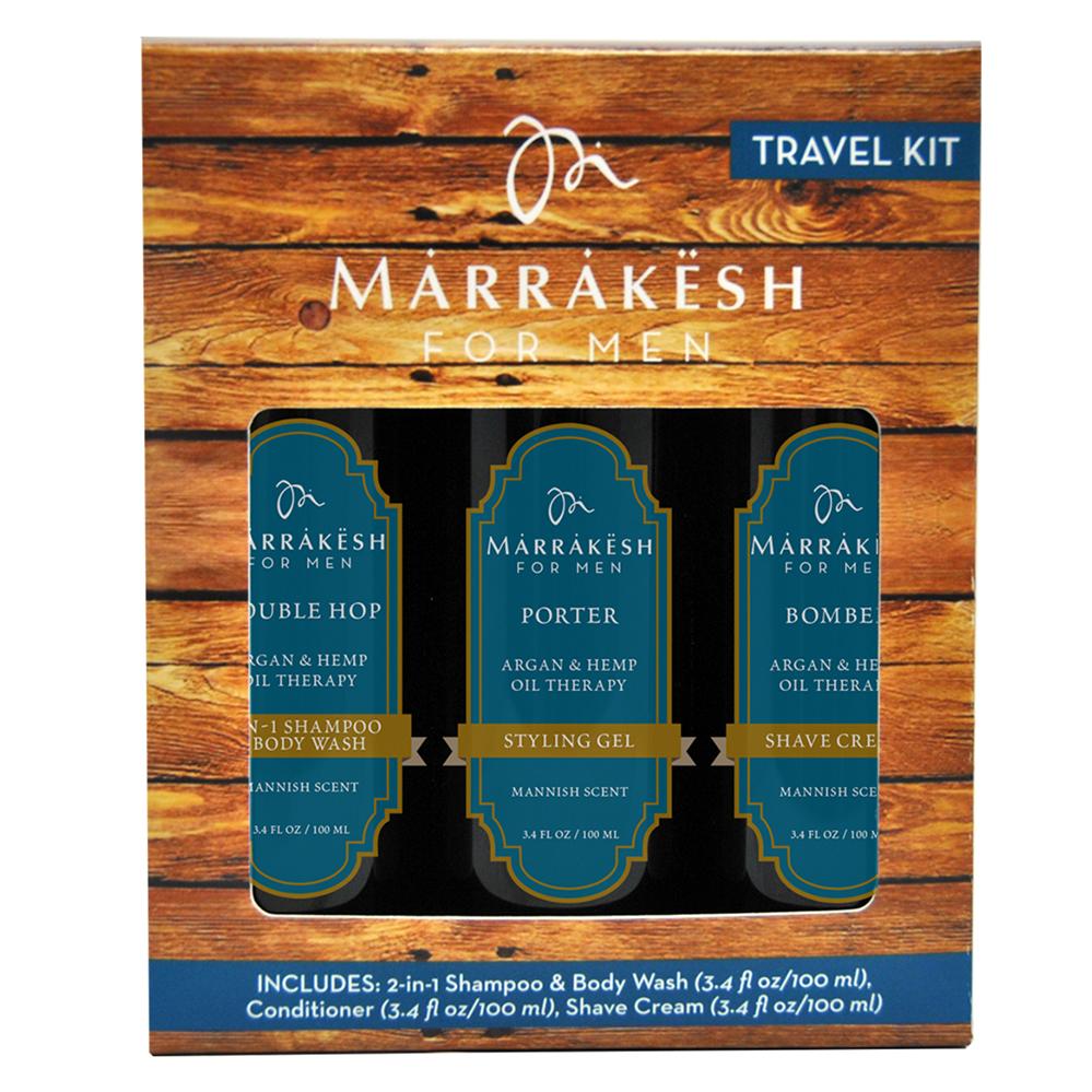 Купить Marrakesh Набор для мужчин: гель для душа 2 в 1+крем для бритья+стайлинг-гель, 3х100 мл (Marrakesh, For Men)