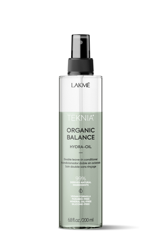 Lakme Двухфазный несмываемый кондиционер для всех типов волос Organic balance hydra-oil, 200 мл (Lakme, Teknia)