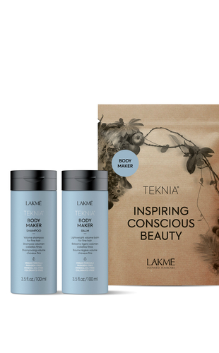 Lakme Дорожный набор для придания объема волосам Travel pack Body maker (Шампунь 100 мл + бальзам 100 мл) (Lakme, Teknia)
