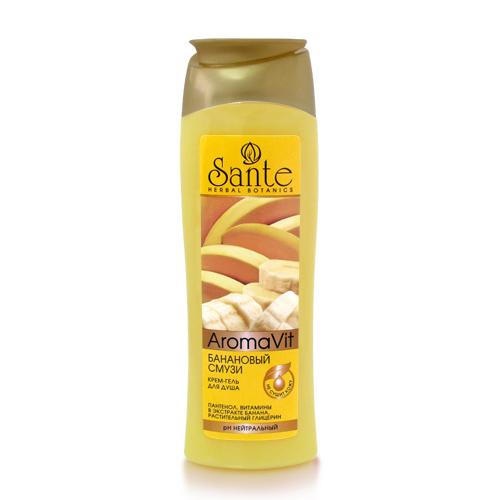 Санте Крем-гель для душа Банановый смузи, 250 мл (Санте, Aromavit)  - Купить
